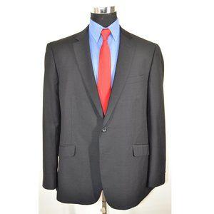 Kenneth Cole 46R Sport Coat Blazer Suit Jacket Bla